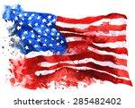 Flag Of America  Hand Drawn...