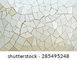 closeup of vintage gray mosaic... | Shutterstock . vector #285495248