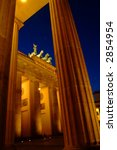 Brandenburg Gate at dawn - stock photo
