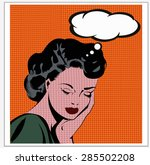 illustration of a  woman day... | Shutterstock .eps vector #285502208
