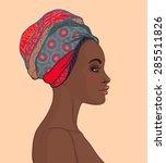 portrait of beautiful african...   Shutterstock .eps vector #285511826