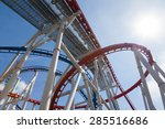 red and blue roller coaster  | Shutterstock . vector #285516686