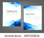 blue polygonal brochure... | Shutterstock .eps vector #285520826
