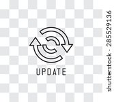 update icon   reload icon | Shutterstock .eps vector #285529136