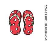 hand drawn flip flop sandal | Shutterstock .eps vector #285534422