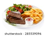 Grilled Steak  French Fries An...