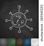 virus icon. hand drawn vector... | Shutterstock .eps vector #285545252