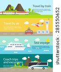 Travel Web Banners Set. With...