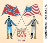 american civil war illustration ... | Shutterstock .eps vector #285556376