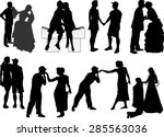 illustration with loving... | Shutterstock .eps vector #285563036