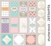 templates  cards  frames in... | Shutterstock .eps vector #285564956