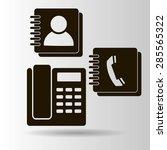 vector phone book icon | Shutterstock .eps vector #285565322