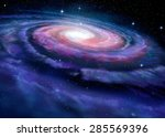 Spiral Galaxy  Illustration Of...