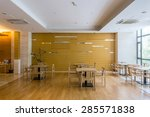 Stock photo luxury cafe interior and furniture 285571838