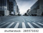 empty road and modern office... | Shutterstock . vector #285573332