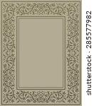 gold floral frame in medieval... | Shutterstock .eps vector #285577982