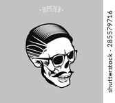 hipster skull symbol design... | Shutterstock .eps vector #285579716