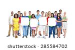 diversity casual community... | Shutterstock . vector #285584702