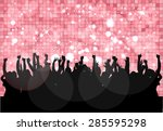 dancing people silhouettes . | Shutterstock .eps vector #285595298