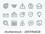 linear internet icon | Shutterstock .eps vector #285596828
