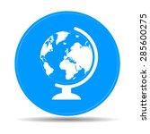geography school earth globe... | Shutterstock . vector #285600275