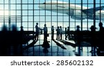 business travel handshake... | Shutterstock . vector #285602132