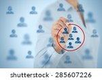 marketing segmentation  target... | Shutterstock . vector #285607226