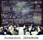 diverse business people in a... | Shutterstock . vector #285608186