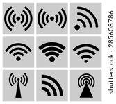 wireless technology  black web... | Shutterstock . vector #285608786