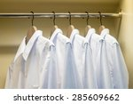 close up of white shirts... | Shutterstock . vector #285609662