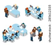 human resources and business... | Shutterstock . vector #285612335