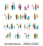 family flat style icons.... | Shutterstock . vector #285612362