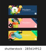 set of banners with stickers ... | Shutterstock .eps vector #285614912