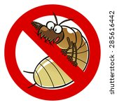 no termites sign. anti pest... | Shutterstock .eps vector #285616442