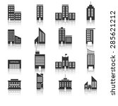 buildings icons vector eps10. | Shutterstock .eps vector #285621212