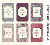assorted set of business cards... | Shutterstock .eps vector #285623516