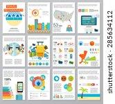 big set of infographics...   Shutterstock .eps vector #285634112