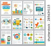 big set of infographics...   Shutterstock .eps vector #285634115