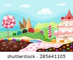 candy landscape | Shutterstock .eps vector #285641105