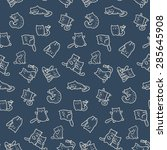 seamless pattern   funny... | Shutterstock .eps vector #285645908