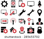 settings and tools icons.... | Shutterstock .eps vector #285653702