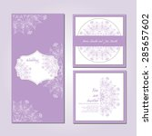wedding card collection.... | Shutterstock .eps vector #285657602