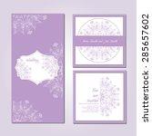 wedding card collection.... | Shutterstock .eps vector #285657602