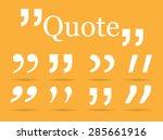 quotation marks   Shutterstock .eps vector #285661916