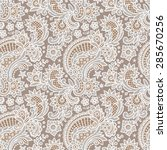 white lace. floral seamless... | Shutterstock .eps vector #285670256