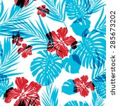 bright seamless summer pattern... | Shutterstock .eps vector #285673202