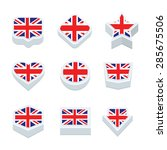 united kingdom flags icons and... | Shutterstock .eps vector #285675506