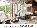 luxury hotel lobby and furniture   Shutterstock . vector #285675662