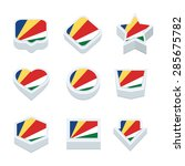 seychelles flags icons and... | Shutterstock .eps vector #285675782