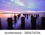 long exposure pier  | Shutterstock . vector #285676256